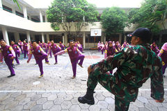 Military Training For Lecturer Stock Image