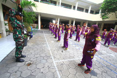 Military Training For Lecturer Stock Images