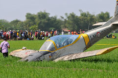 Military Training Plane Crashed in Indonesia Stock Photography