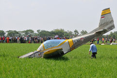 Military Training Plane Crashed in Indonesia Stock Photos