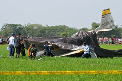 Military Training Plane Crashed in Indonesia Stock Images