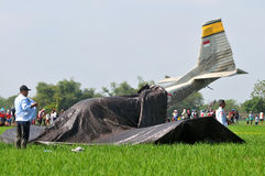 Military Training Plane Crashed in Indonesia Royalty Free Stock Photography