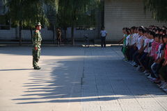 Military training for students Stock Images