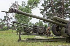 Military training  at training Center of National Guard of Ukrai Royalty Free Stock Photo