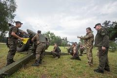 Military training  at training Center of National Guard of Ukrai Royalty Free Stock Photos