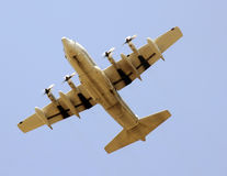 Military transport airplane Royalty Free Stock Photography