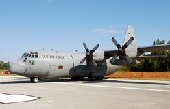 Military transport airplane Royalty Free Stock Image