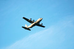 Military Transport Airplane (C-130) Stock Photography