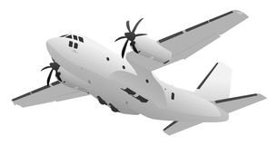 Military Transport Cargo Aircraft Illustration. Large military C-27 heavy lift transport cargo aircraft vector illustration Royalty Free Stock Photography