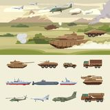 Military Transport Concept Royalty Free Stock Photos
