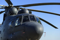 Military transport helicopter stock photography
