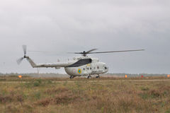Military transport helicopter Mi-8 Royalty Free Stock Photography