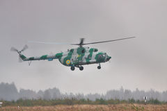Military transport helicopter Mi-8 Royalty Free Stock Image