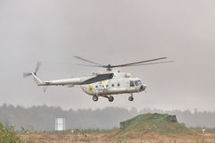 Military transport helicopter Mi-8 Stock Photos