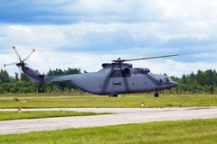 Military transport helicopter Royalty Free Stock Image