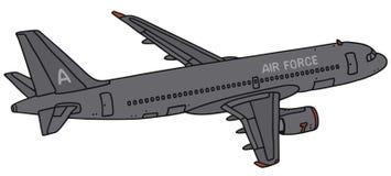 Military transport jet airplane Stock Photos