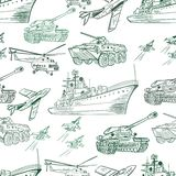 Military Transport Pattern Royalty Free Stock Images