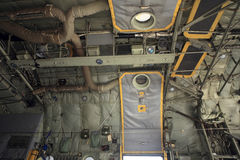 Military Transport Plane Interior. Hercules C-130 Military Transport Plane Interior Stock Image