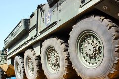 Military transport vehicle Stock Photo