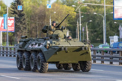 Military transportation after Victory Day Parade Stock Images