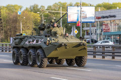 Military transportation after Victory Day Parade Royalty Free Stock Photo
