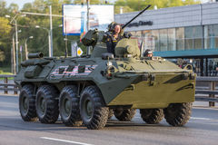 Military transportation after Victory Parade Stock Photography