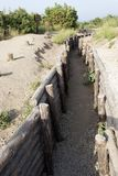 Military trench, in the Gallipoli Battle fields in Turkey royalty free stock photos