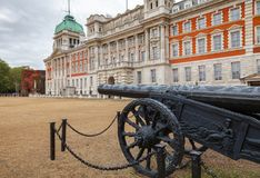 Military trophy Turkish cannon at Horse Guards Parade Whitehall Stock Photography