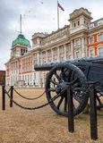 Military trophy Turkish cannon at Horse Guards Parade Whitehall Royalty Free Stock Images