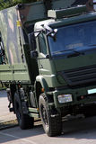 Military truck. Big green military truck for troop transporting Royalty Free Stock Images