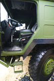 Military truck cabin Stock Photo