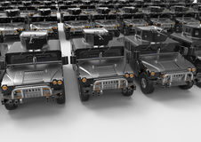 Military truck fleet Royalty Free Stock Images