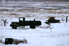 Military truck GAZ-AA lorry Royalty Free Stock Images