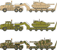 Military Truck pulling tank vector Stock Photo