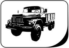 Military truck veteran. Vector illustration truck suitable for cutter plotter Stock Photo