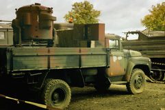 Military trucks. Military truck at a standstill Stock Photos