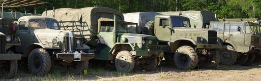 Military trucks history Stock Photography