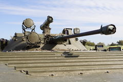 Military turret gun. Close view Stock Images