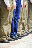 Military uniform detail Royalty Free Stock Photography
