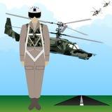 Military Uniform Force pilot-1 Royalty Free Stock Image