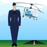 Military Uniform Force pilot-5 Royalty Free Stock Photo