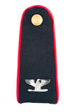 Military uniform insignia Stock Image
