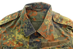 Military uniform isolated Stock Image