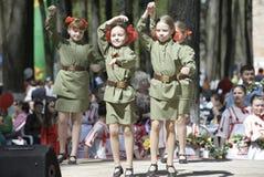 Military uniform kids royalty free stock image