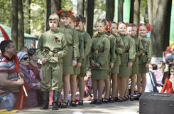 Military uniform kids Royalty Free Stock Photo