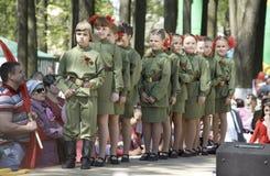 Military uniform kids Royalty Free Stock Photo