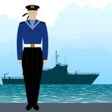 Military Uniform Navy sailor-3 Stock Image