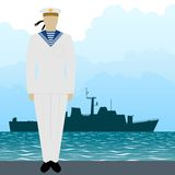 Military Uniform Navy sailor-4 Royalty Free Stock Images