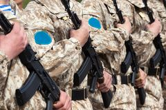 Military uniform soldier row Royalty Free Stock Photography