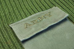 Military Uniform Sweater With Sign Army On The Pocket Stock Images